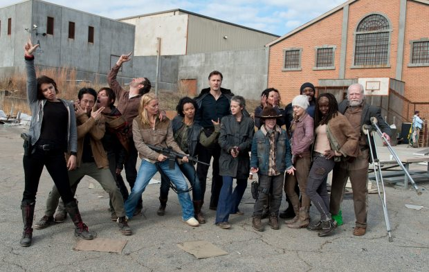 The Walking Dead behind the scene